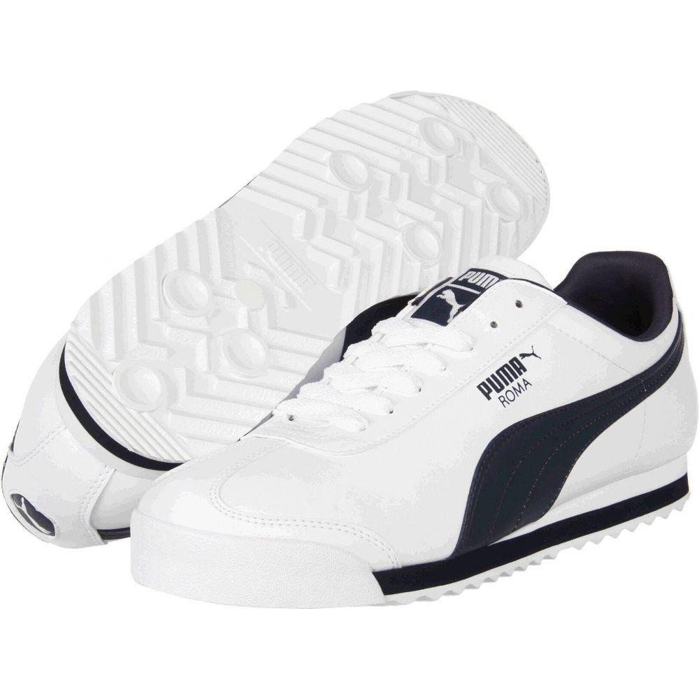 プーマ PUMA メンズ スニーカー シューズ・靴【Roma Basic】White/New Navy