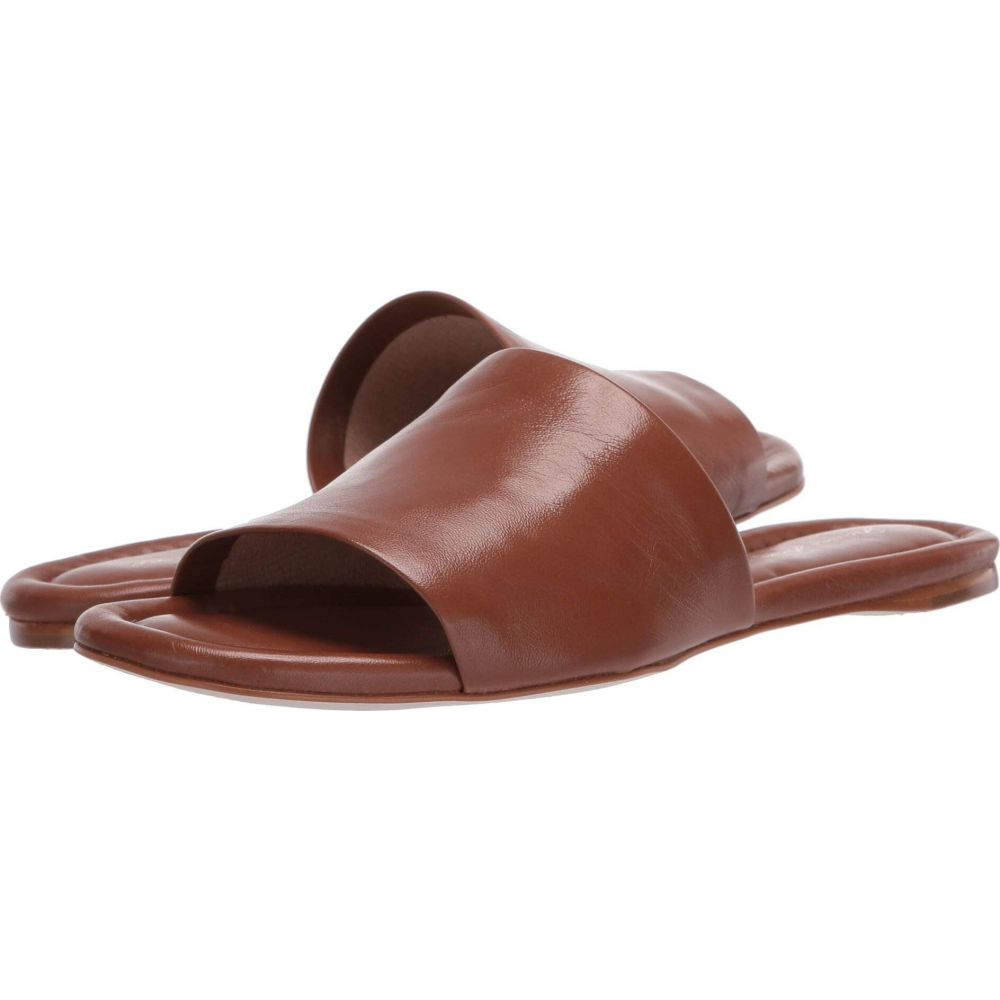 マッテオ マッシモ Massimo Matteo レディース サンダル・ミュール スライドサンダル シューズ・靴【Leather Slide Sandal】Caramel
