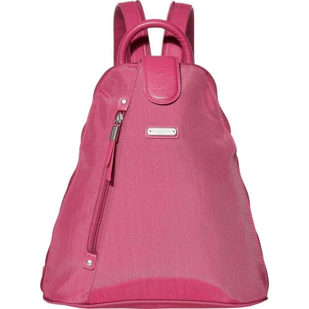 バッガリーニ Baggallini レディース バックパック・リュック リストレット バッグ【New Classic Metro Backpack with RFID Phone Wristlet】Deep Fuchsia