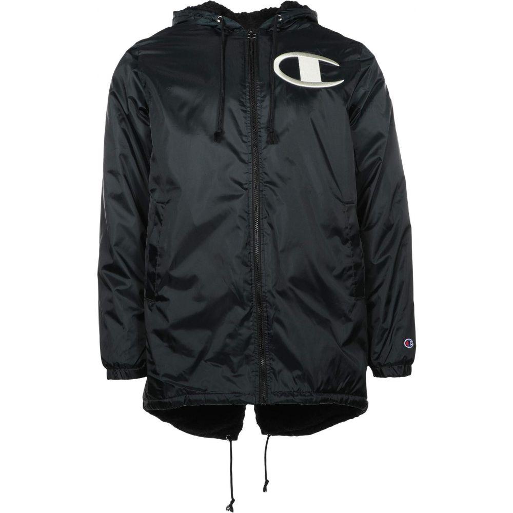 メンズ チャンピオン Lined Jacket】Black Stadium アウター【Sherpa スタジャン Champion ジャケット