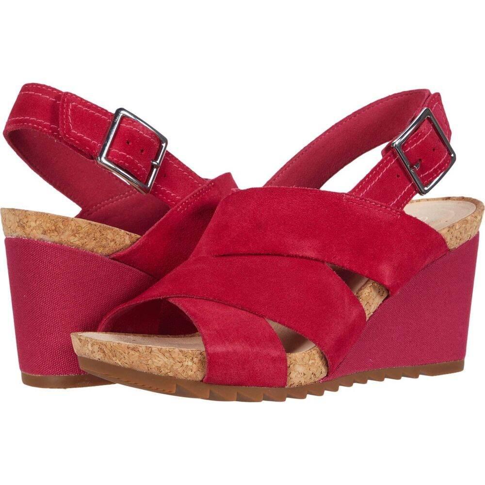 クラークス Clarks レディース サンダル・ミュール シューズ・靴【Flex Sand】Fuchsia Suede