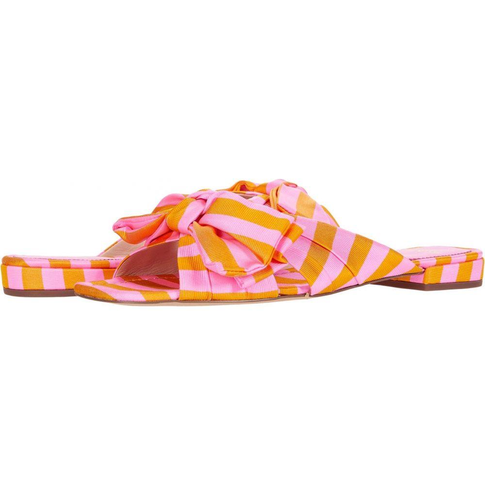 ジェイクルー J.Crew レディース サンダル・ミュール シューズ・靴【Tie Stripe Bow Lucy Slide】Bubble Gum Marigold