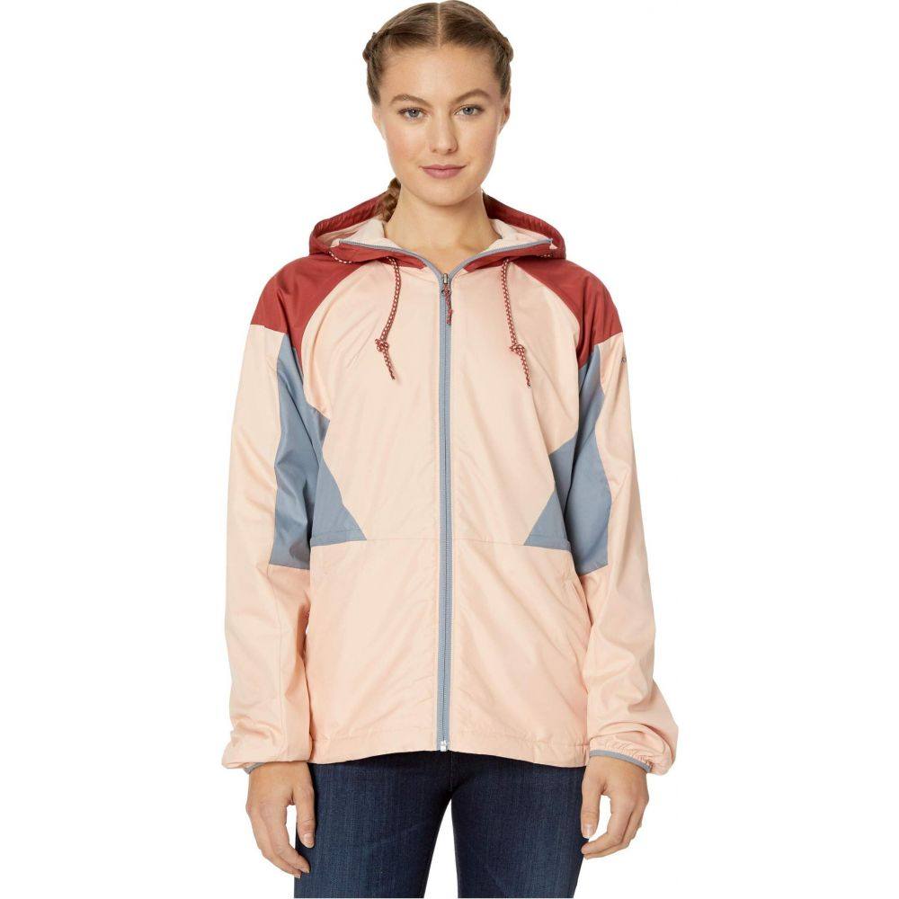 コロンビア Columbia レディース ジャケット ウィンドブレーカー アウター【Side Hill Lined Windbreaker】Peach Cloud/Dusty Crimson/Tradewinds Grey
