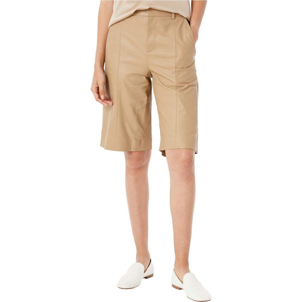 ヴィンス レディース 訳あり品送料無料 ボトムス パンツ ショートパンツ Shorts Leather サイズ交換無料 Khaki Vince オープニング 大放出セール