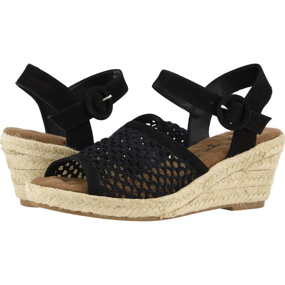ウォーキング クレードル Walking Cradles レディース サンダル・ミュール シューズ・靴【Avery】Black Nubuck/Crochet Fabric