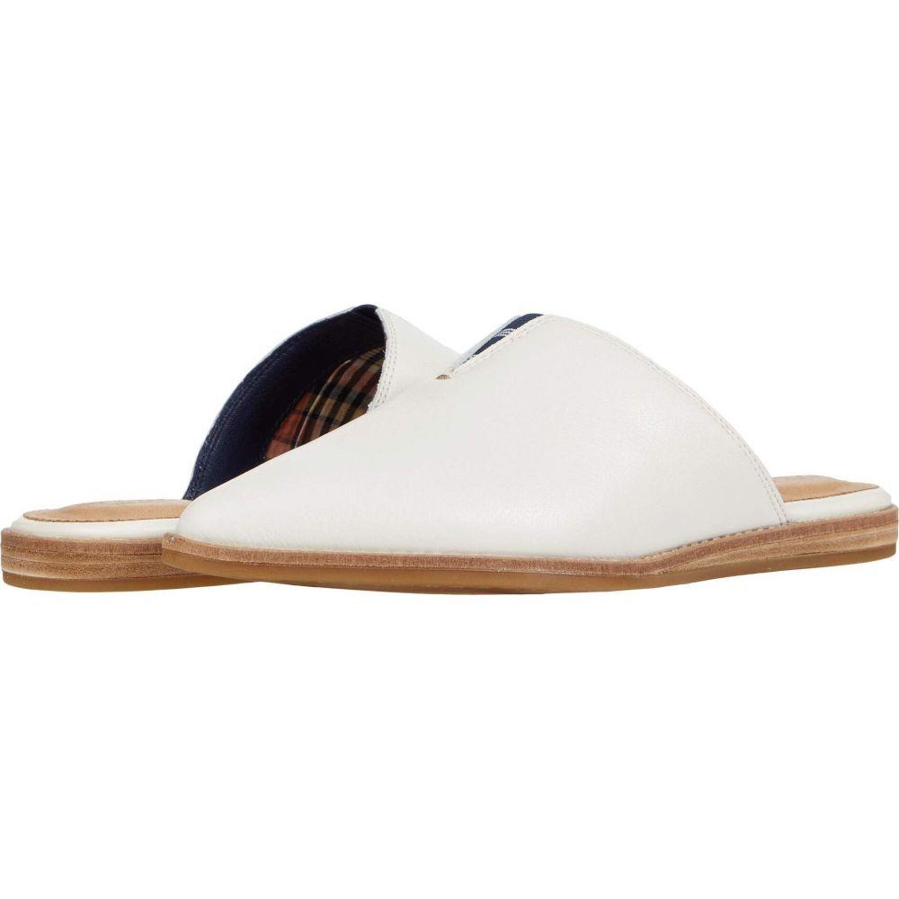 スペリートップサイダー Sperry レディース サンダル・ミュール シューズ・靴【Saybrook Mule Leather】White