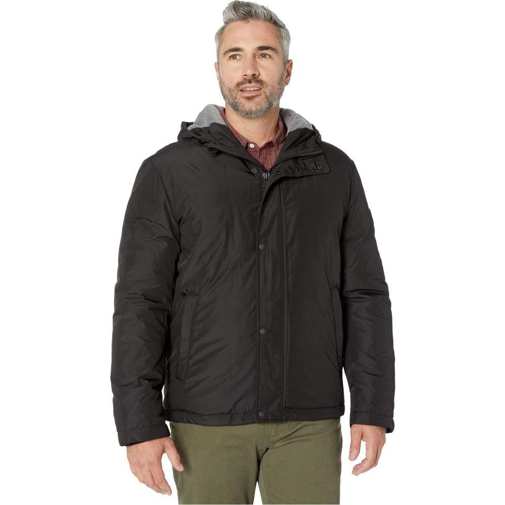 コールハーン Cole Haan メンズ ジャケット アウター【Light Oxford Poly 28 Zip Front Jacket with Attached Hood】Black