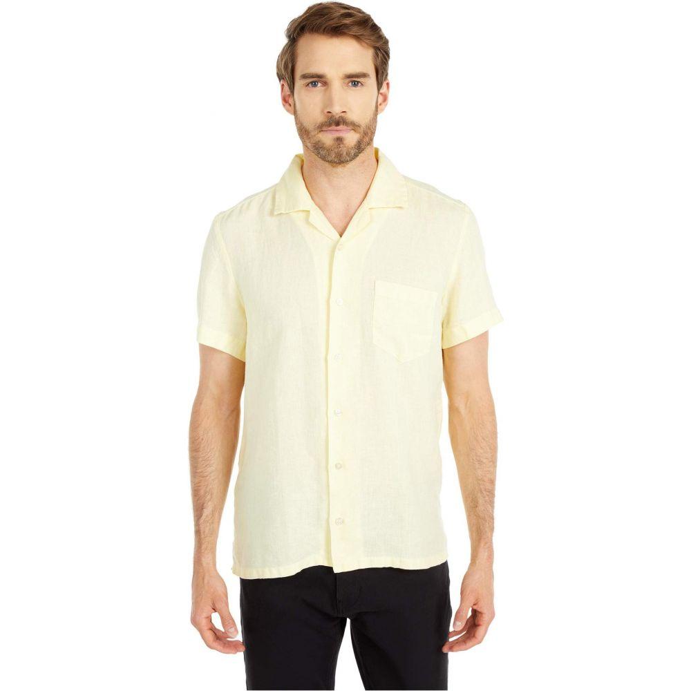 ヒューゴ ボス BOSS Hugo Boss メンズ 半袖シャツ トップス【Rhythm Short Sleeve Linen Shirt】Yellow