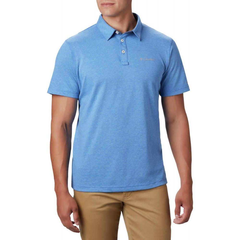 コロンビア Columbia メンズ ポロシャツ トップス【Thistletown Ridge Polo】Sky Blue/Azul Stripe