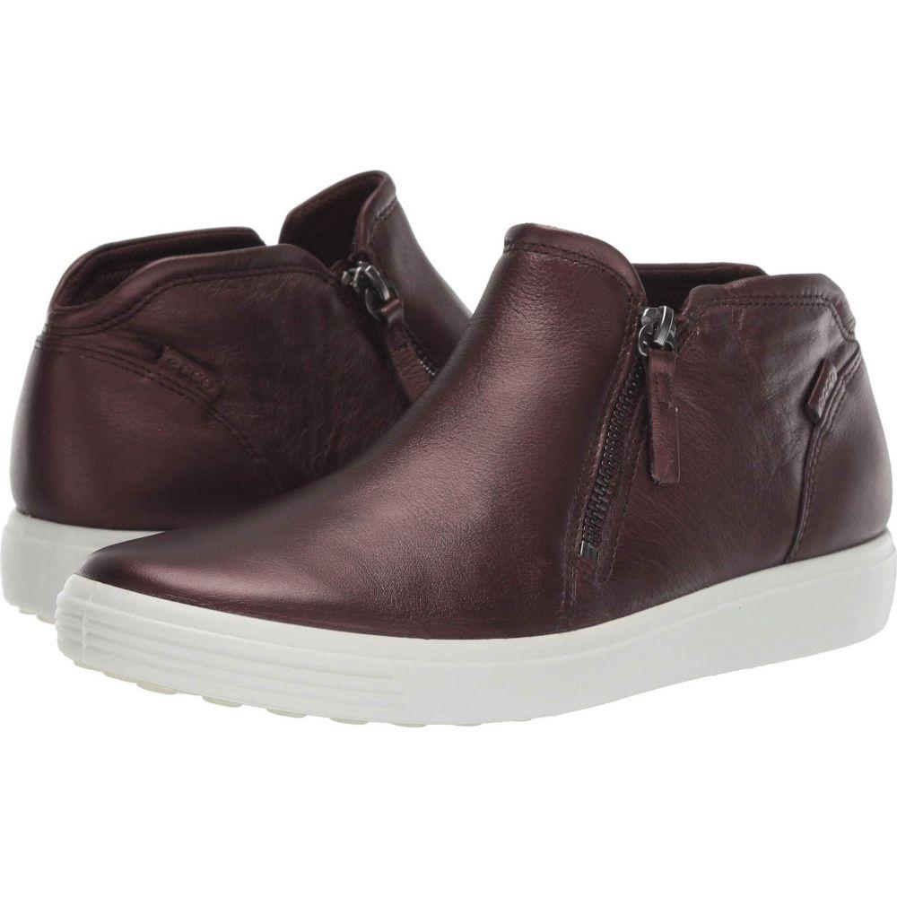 エコー ECCO レディース スニーカー シューズ・靴【Soft 7 Zip Bootie】Fig Metallic Cow Leather