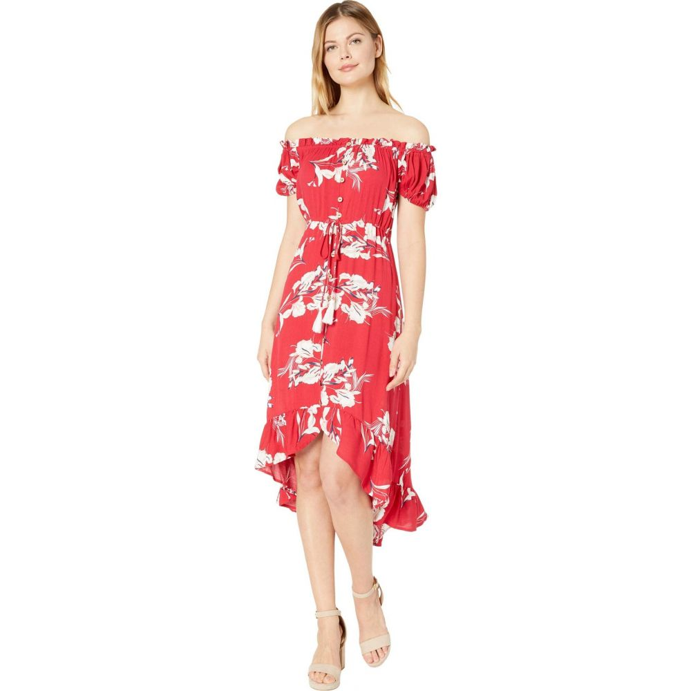 トリバル Tribal レディース ワンピース ワンピース・ドレス【On & Off-Shoulder High-Low Dress】Flame