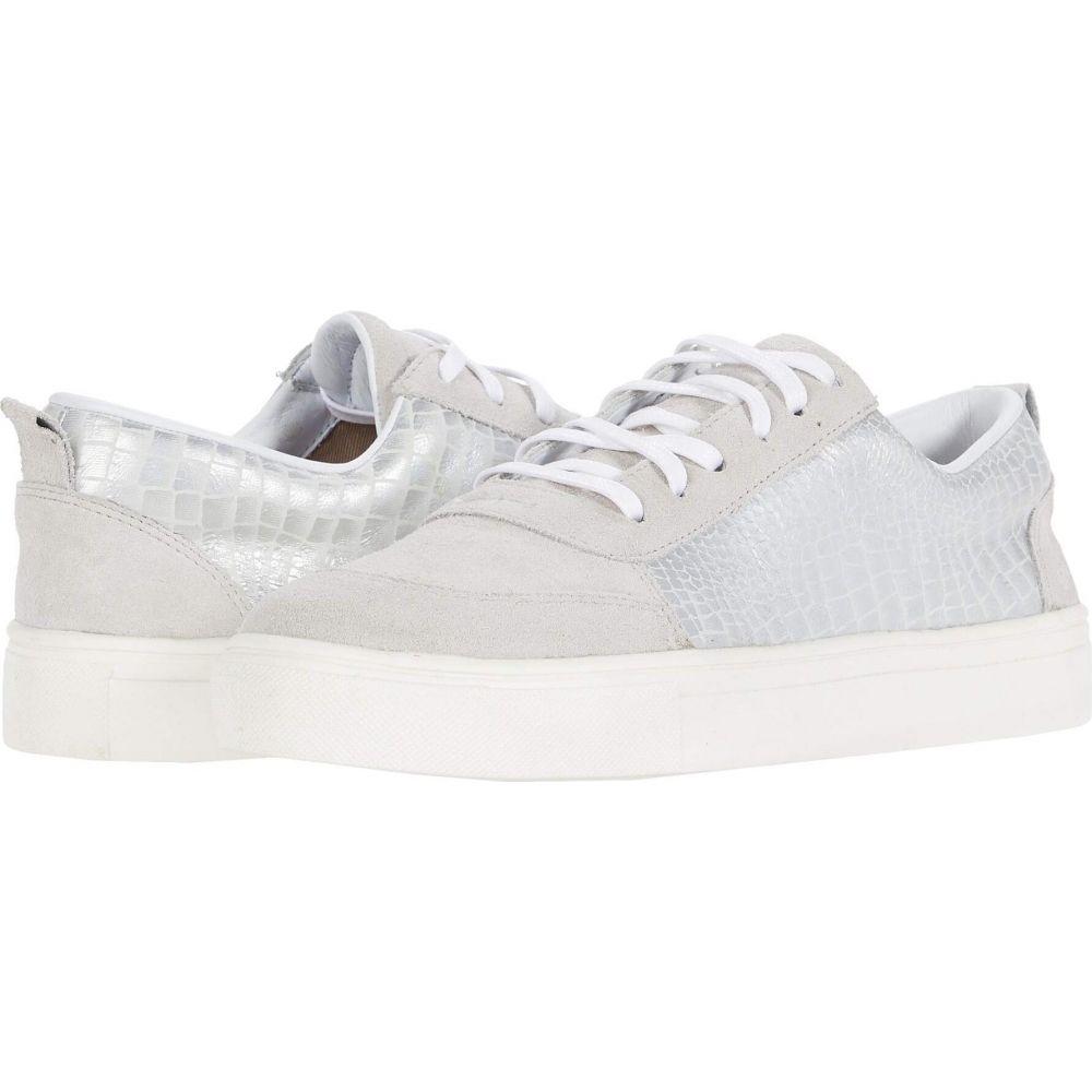 カーナス KAANAS レディース スニーカー シューズ・靴【Levanzo Croc-Embossed Sneaker】Silver