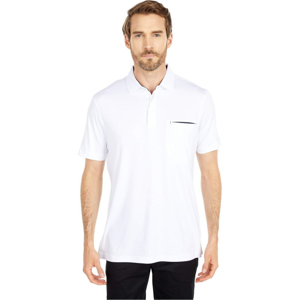 ブガッチ BUGATCHI メンズ ポロシャツ 半袖 トップス【Gunnar Short Sleeve Knit Polo】White