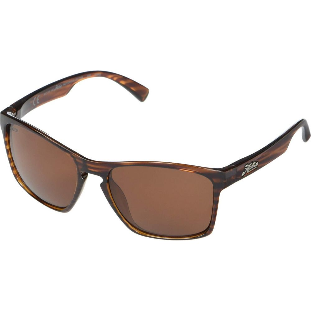 ホビー Hobie メンズ メガネ・サングラス 【Polarized Oxnard】Shiny Brown Wood Grain Frame/Copper Polarized PC Lens