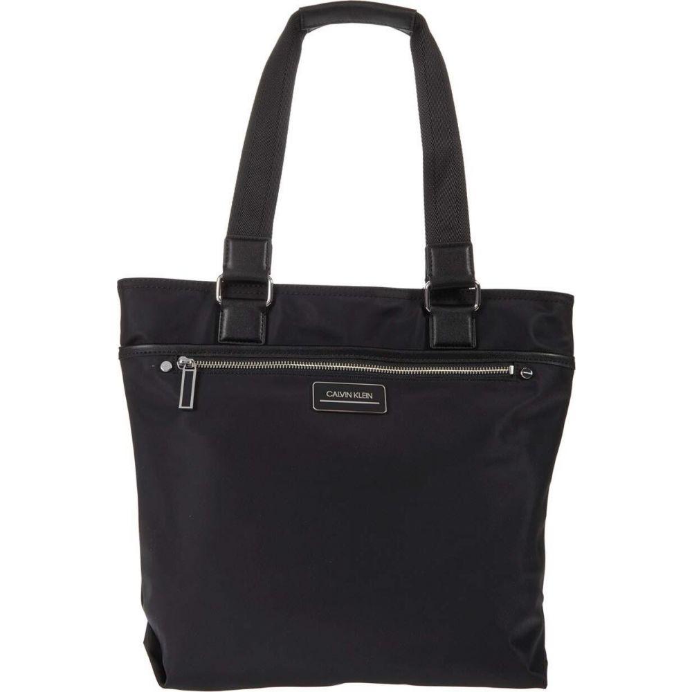 カルバンクライン Calvin Klein レディース トートバッグ バッグ【Sussex Nylon North/South Tote】Black/Silver
