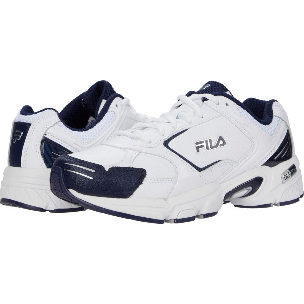フィラ Fila メンズ スニーカー シューズ・靴【Decimus 4】White/White/Fila Navy