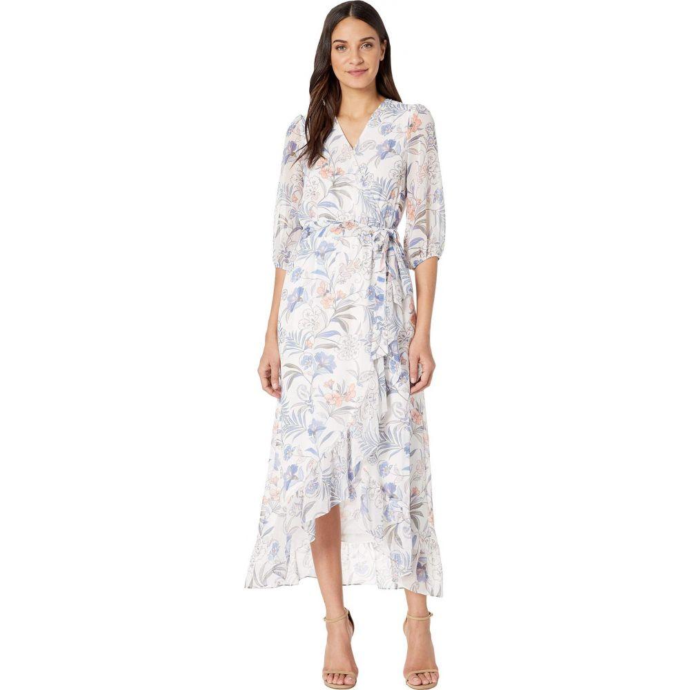 ワンステート 1.STATE レディース ワンピース ワンピース・ドレス【Cross Front Tie Waist Paisley Dress】Soft Ecru Multi