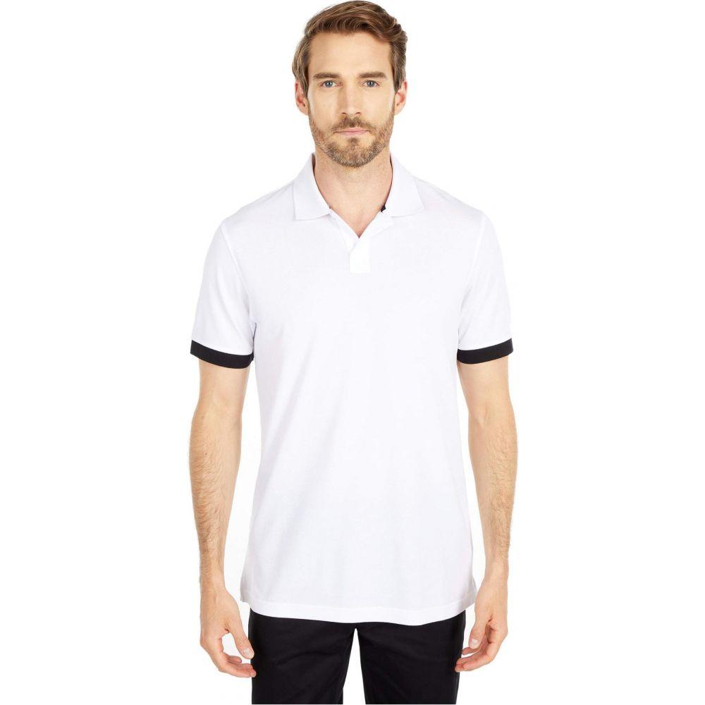 ブガッチ BUGATCHI メンズ ポロシャツ トップス【Kacper Short Sleeve Knit - Johnny Collar】White