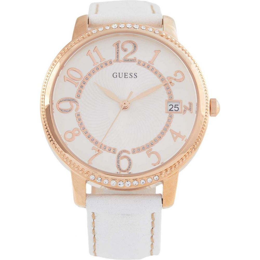 ゲス GUESS レディース 腕時計 【Kismet W0930L1】White/Rose Gold Tone/White