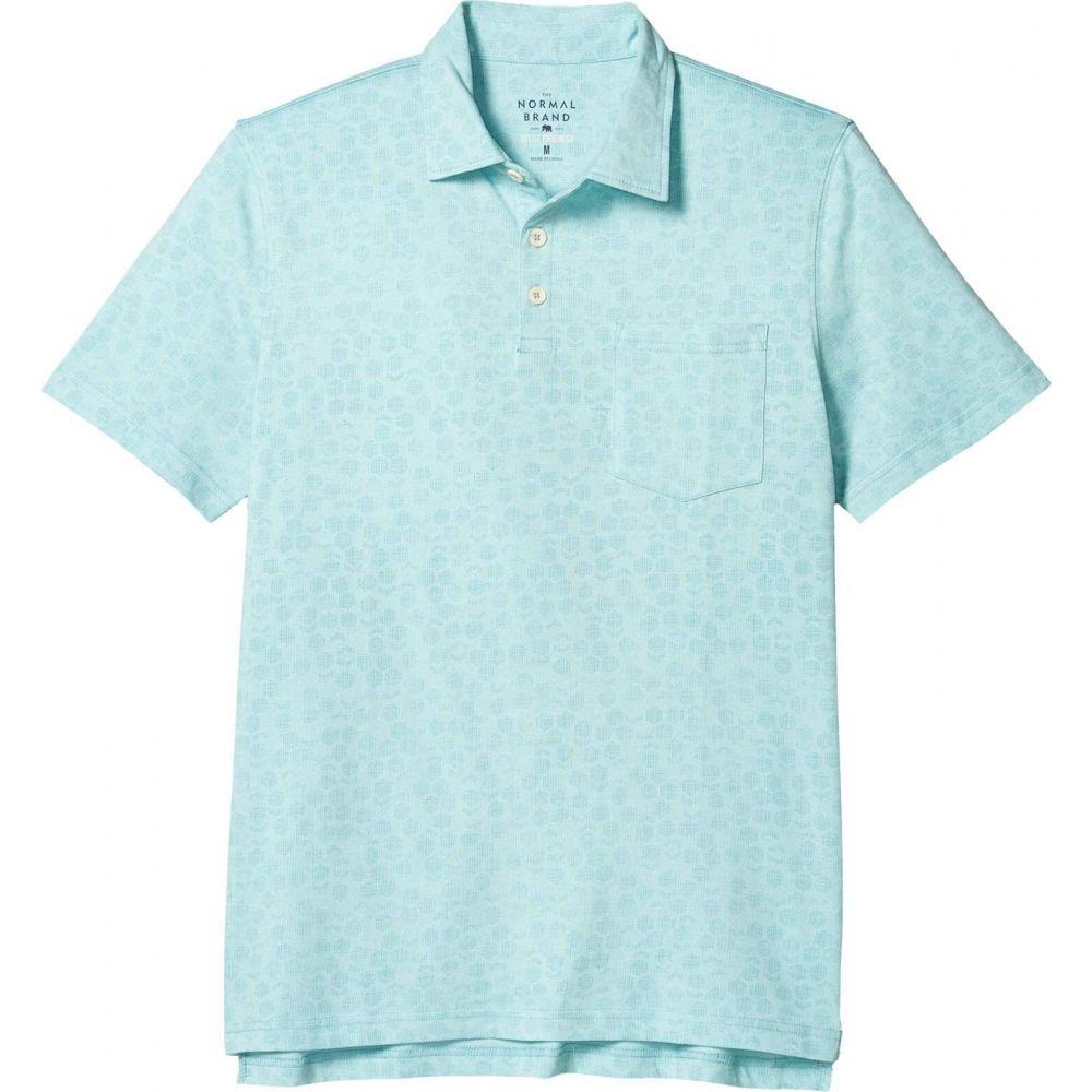 ノーマルブランド The Normal Brand メンズ ポロシャツ トップス【Active Puremeso Geo Print Polo】Blue Haze