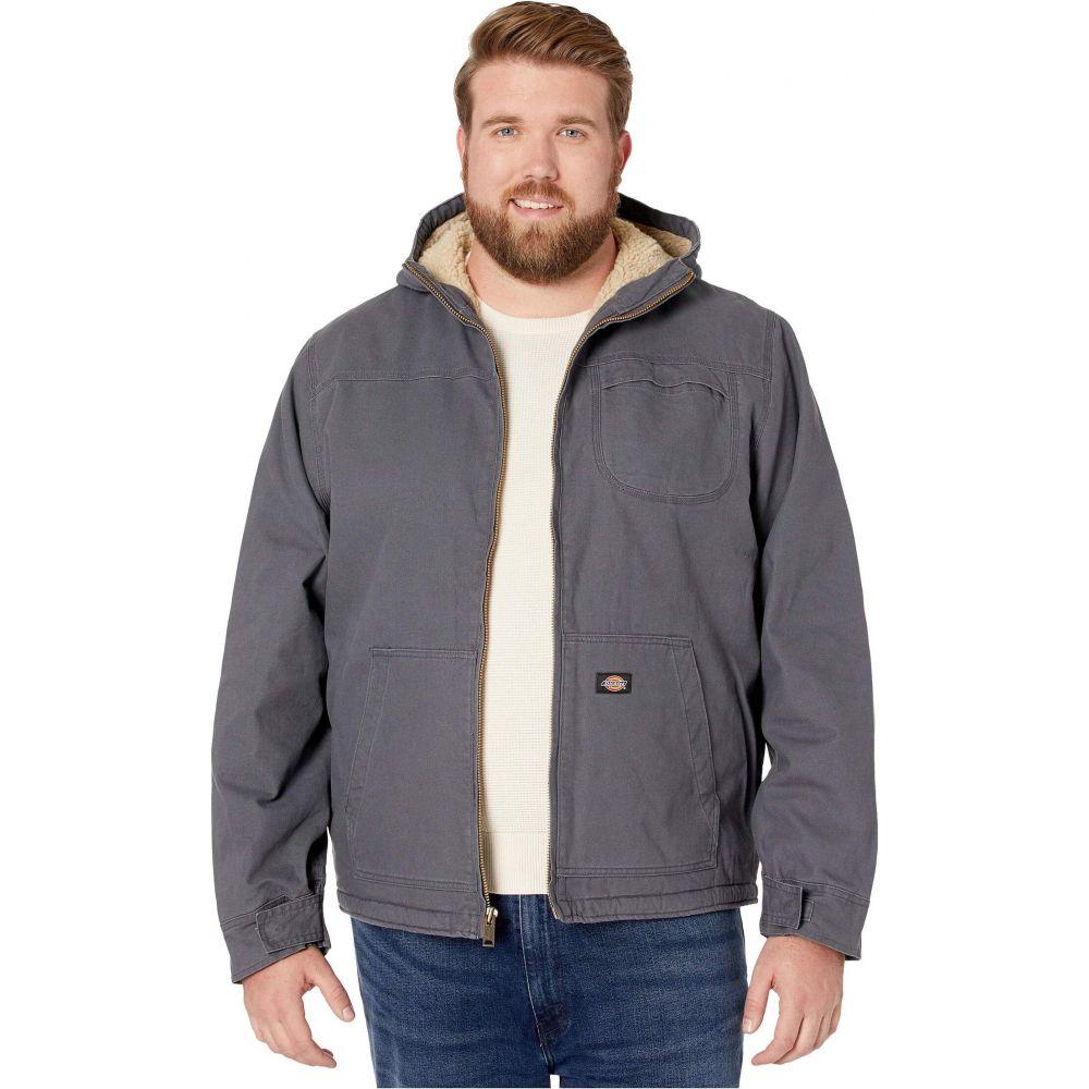 ディッキーズ Dickies メンズ ジャケット 大きいサイズ フード アウター【Big & Tall Sanded Duck Sherpa Lined Hooded Jacket】Charcoal