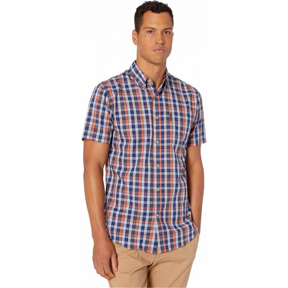 ベンシャーマン Ben Sherman メンズ 半袖シャツ トップス【Short Sleeve Medium Checker Shirt】Pigment Blue