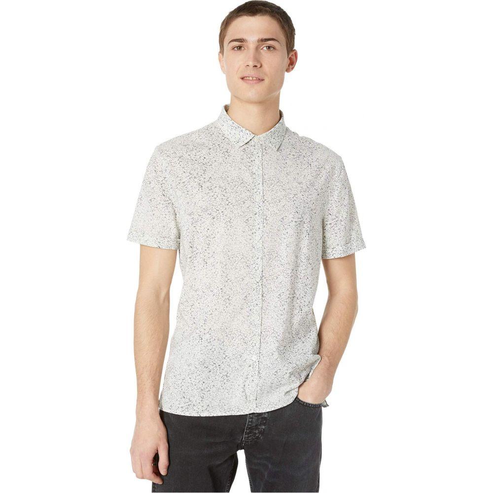 ジョン バルベイトス John Varvatos Collection メンズ 半袖シャツ トップス【Slim Fit Short Sleeve Sport Shirt W516W1】Silver/Grey