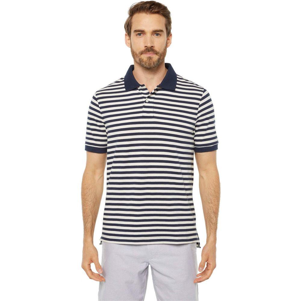 ジェイクルー J.Crew メンズ ポロシャツ 半袖 トップス【Heritage Pique Nautical Stripe Short Sleeve Polo】Navy/Ivory Nautical Stripe