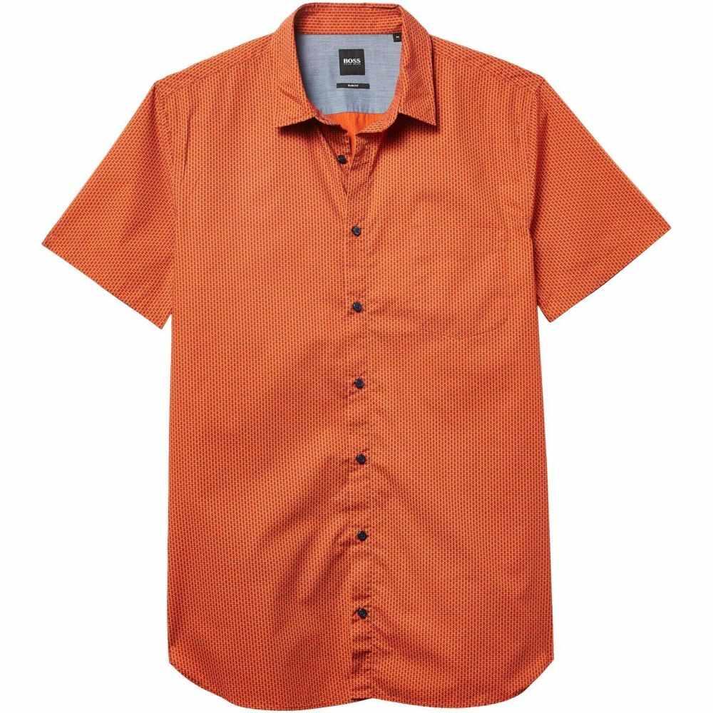 ヒューゴ ボス BOSS Hugo Boss メンズ 半袖シャツ トップス【Magneton Short Sleeve Shirt】Bright Orange