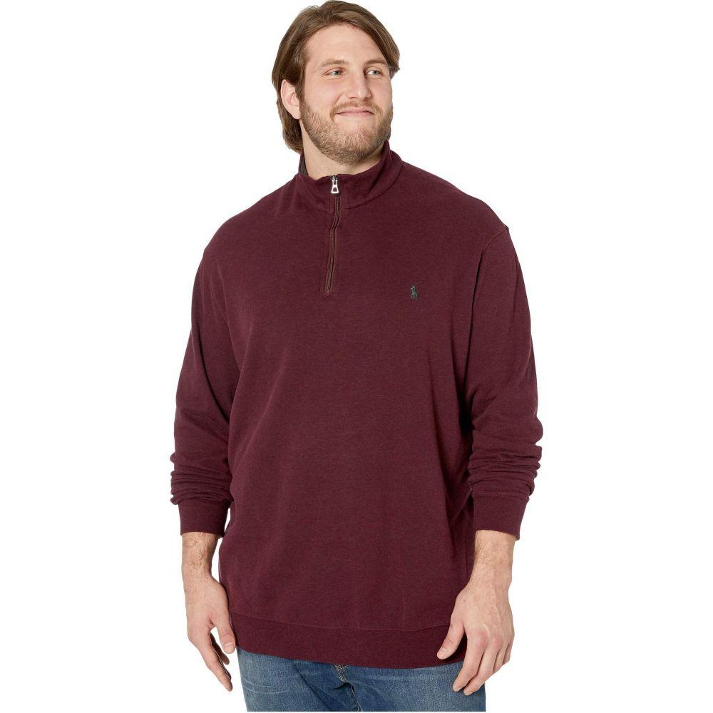 ラルフ ローレン Polo Ralph Lauren Big & Tall メンズ ポロシャツ ハーフジップ 大きいサイズ トップス【Big & Tall Luxury Jersey 1/2 Zip】Aged Wine Heather