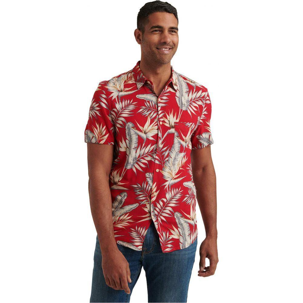 ラッキーブランド Lucky Brand メンズ 半袖シャツ トップス【San Gabriel One-Pocket Short Sleeve Shirt】Red Print