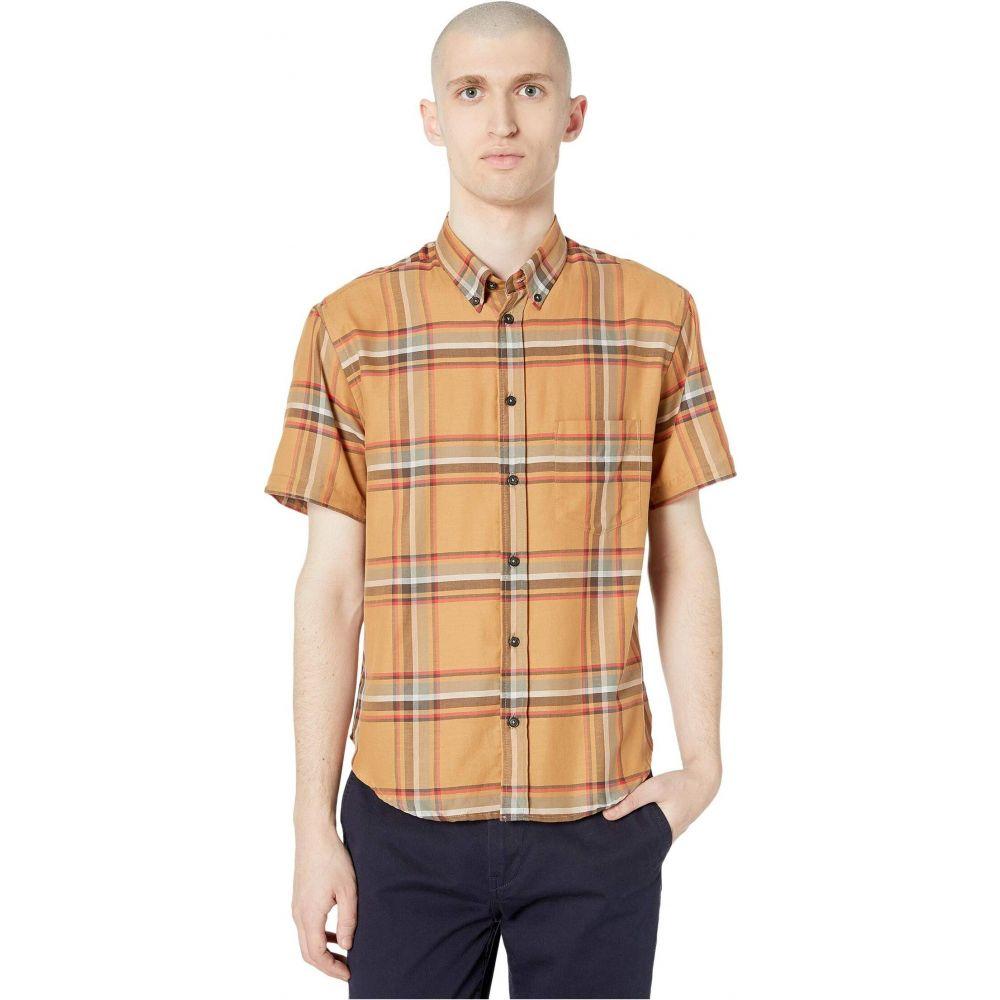 ビリー レイド Billy Reid メンズ 半袖シャツ トップス【Kirby Short Sleeve Slim Shirt】Brown/Red