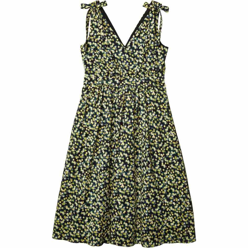 カルバンクライン Calvin Klein レディース ワンピース ワンピース・ドレス【Floral A-Line Dress with Shoulder Ties】Black/Popcorn Multi