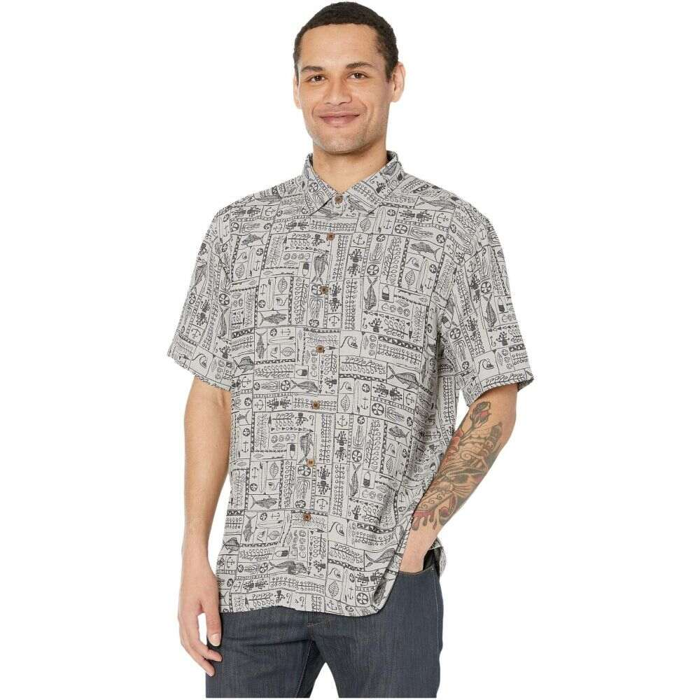 クイックシルバー Quiksilver Waterman メンズ 半袖シャツ トップス【Model Island Short Sleeve】Flint Grey Island
