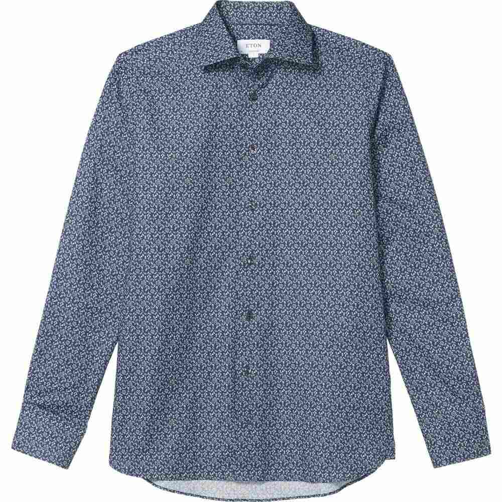 イートン Eton メンズ シャツ トップス【Contemporary Lightweight Leaf Button-Down】Blue