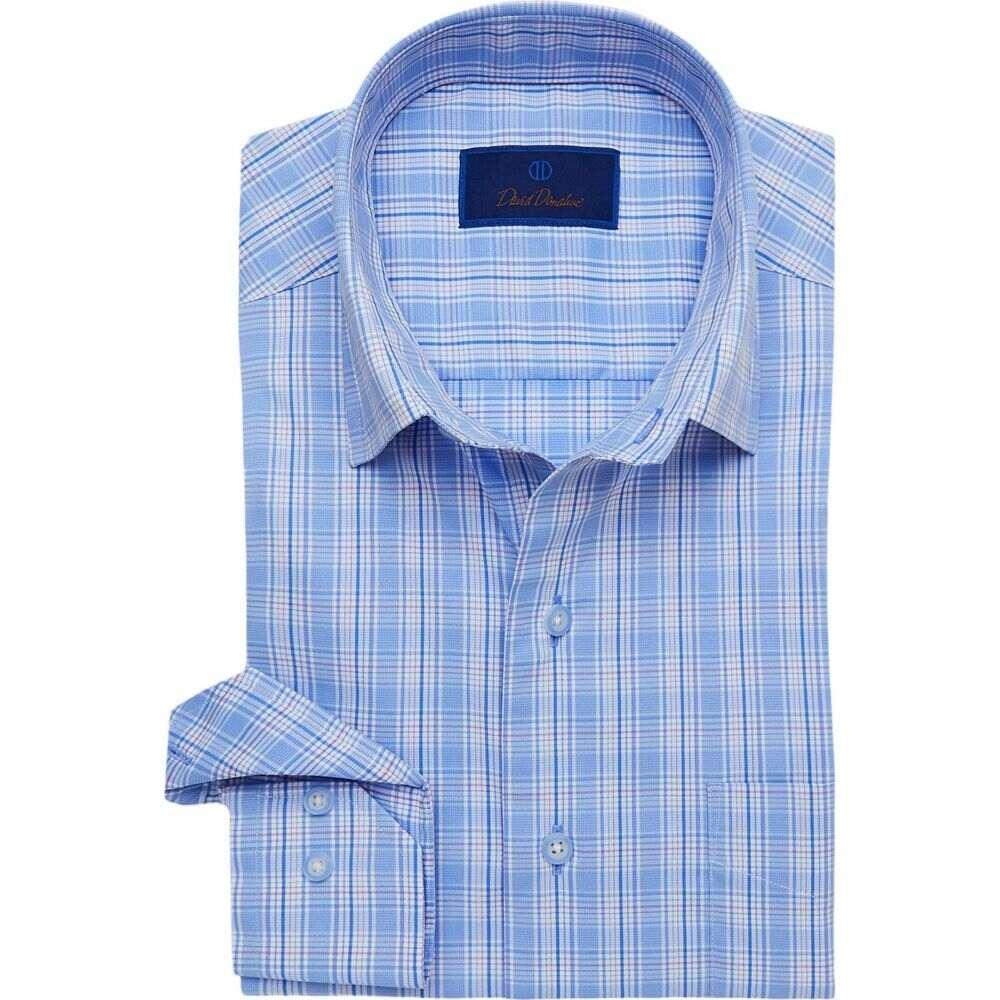 デビッドドナヒュー David Donahue メンズ シャツ トップス【Large Plaid Performance Sport Shirt】Blue/Lilac