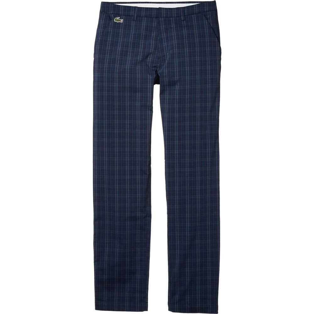 ラコステ Lacoste メンズ ボトムス・パンツ 【Gabardine Plaid Pants】Navy Blue/Mariner/White/Cuba