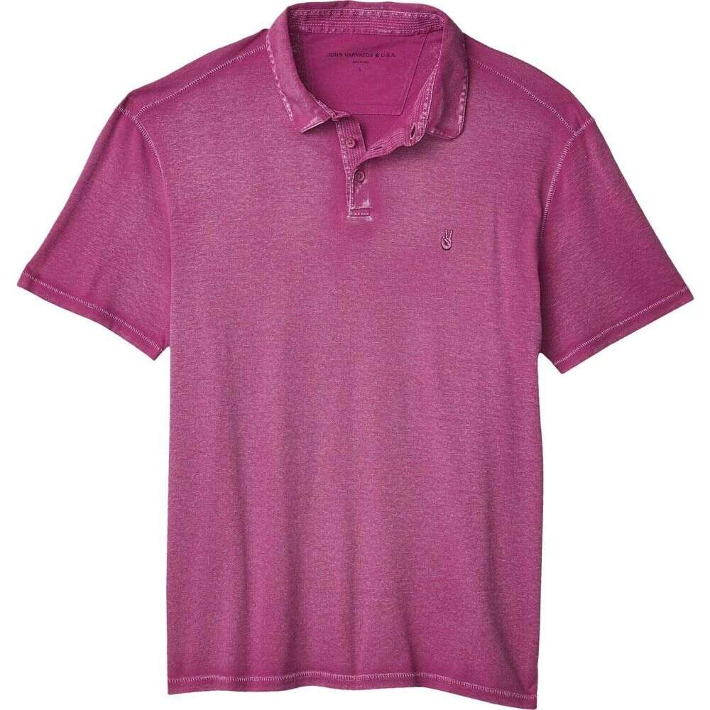 ジョン バルベイトス John Varvatos Star U.S.A. メンズ ポロシャツ トップス【Knoxville Pigment Rub Peace Polo K1381W1B】Boysenberry