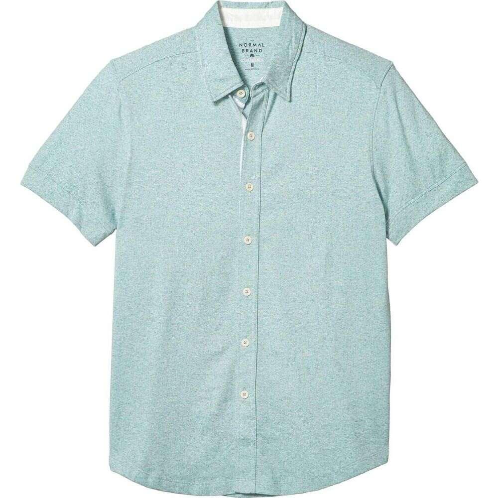ノーマルブランド The Normal Brand メンズ 半袖シャツ トップス【Short Sleeve Active Puremeso Button-Down】Blue Haze
