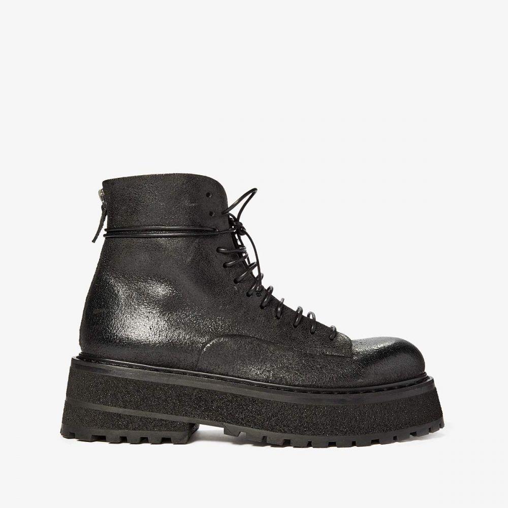 マルセル Marsell メンズ ブーツ コンバットブーツ シューズ・靴【Tech Sole Calf Combat Boot】Black