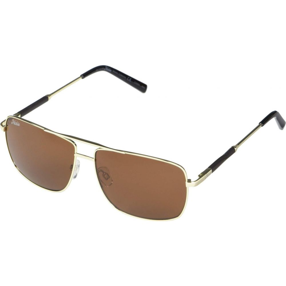 ホビー Hobie メンズ メガネ・サングラス 【Polarized McWay】Shiny Gold Frame/Copper Polarized PC Lens