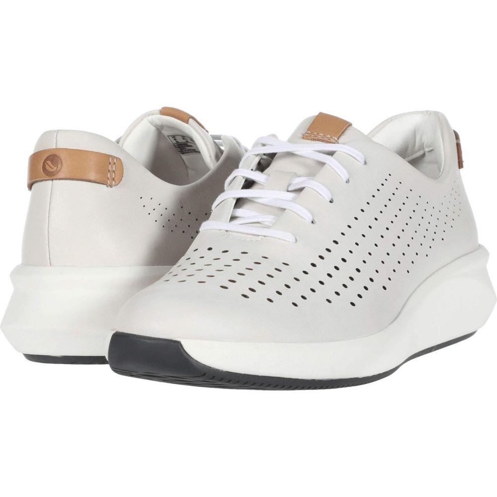 クラークス Clarks レディース スニーカー シューズ・靴【Un Rio Tie】White Leather