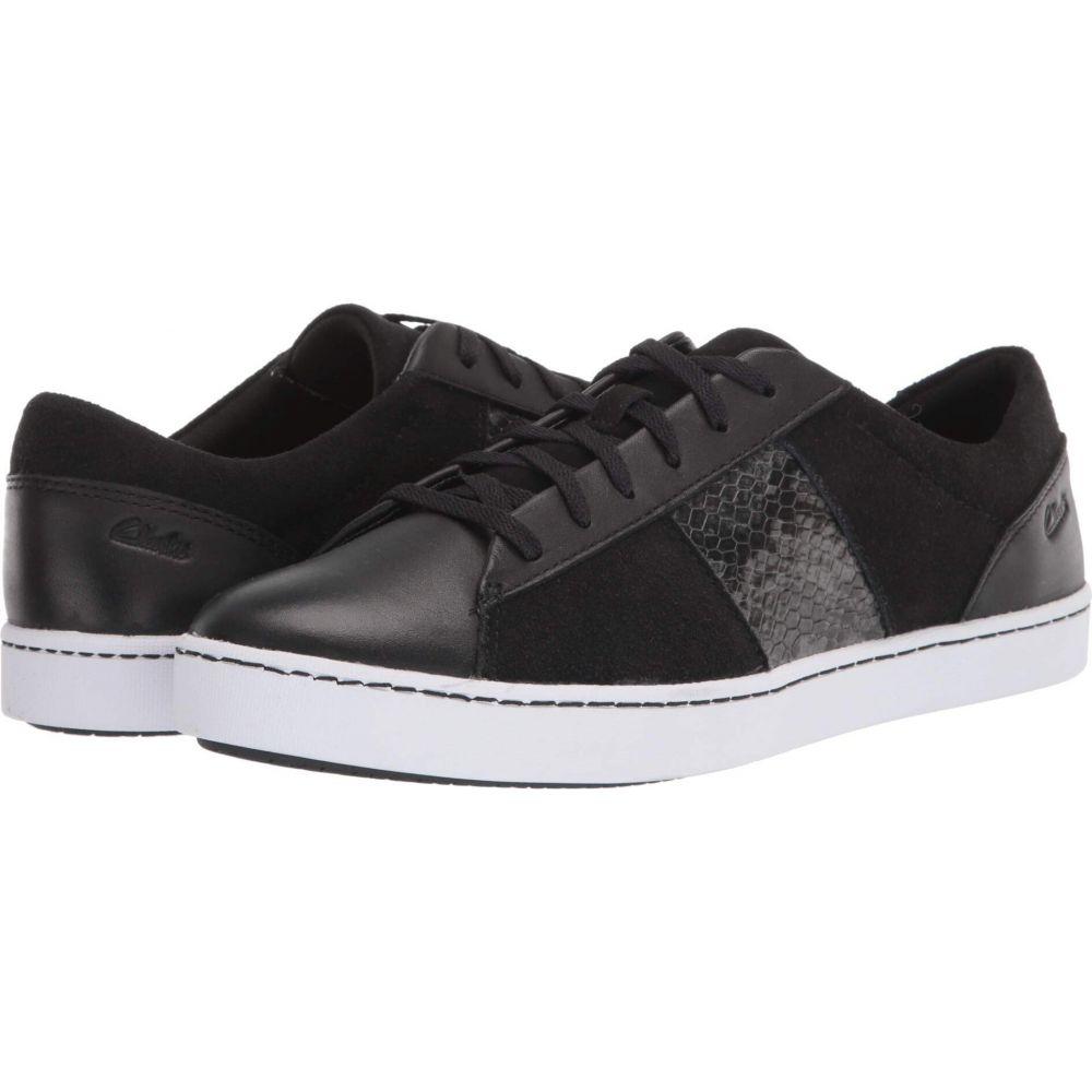 クラークス Clarks レディース スニーカー シューズ・靴【Pawley Rilee】Black Leather/Synthetic Combi