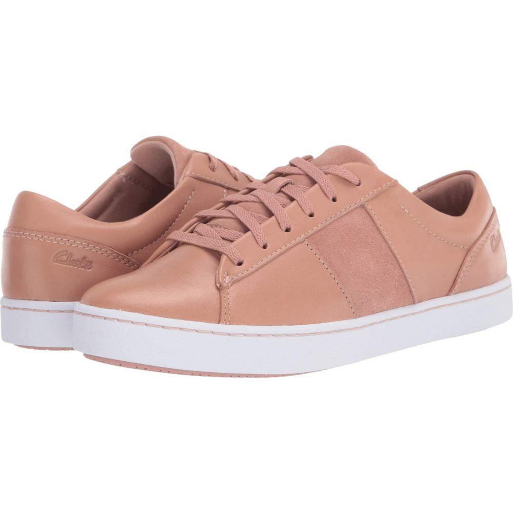 クラークス Clarks レディース スニーカー シューズ・靴【Pawley Rilee】Rose Leather/Suede Combi