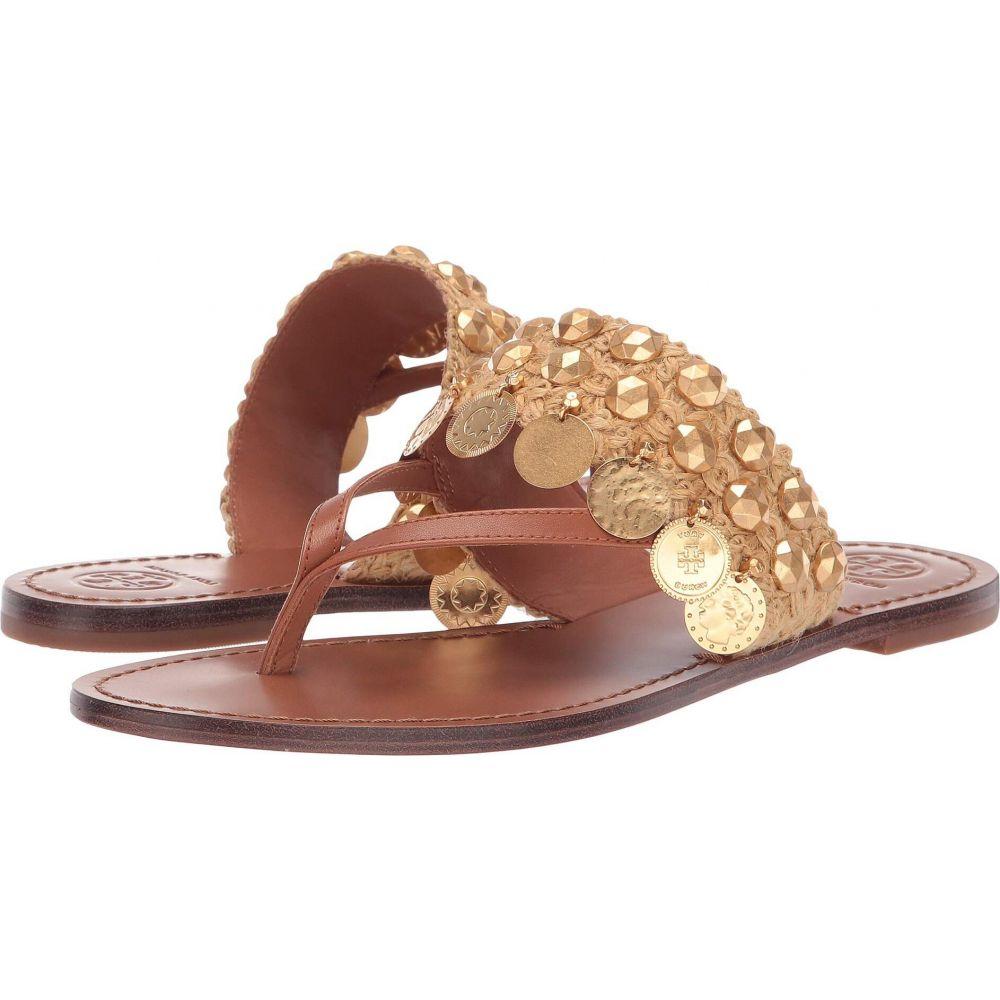トリー バーチ Tory Burch レディース サンダル・ミュール トングサンダル シューズ・靴【Patos Coin Thong Sandal】Tan/Tan