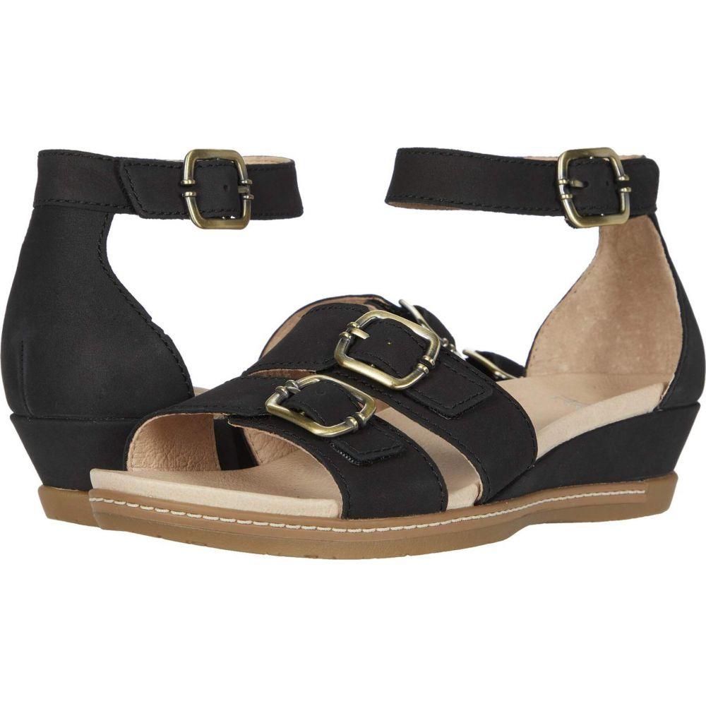 ダンスコ Dansko レディース サンダル・ミュール シューズ・靴【Astrid】Black Milled Nubuck