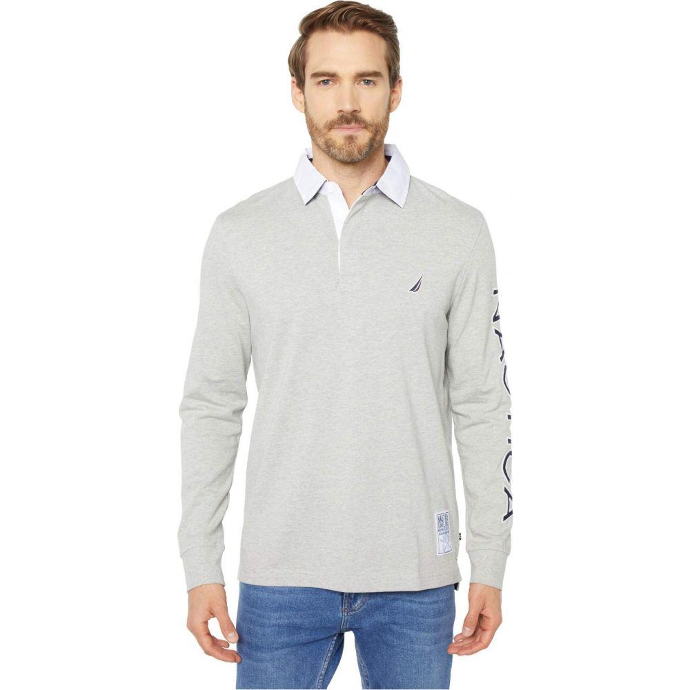 ノーティカ Nautica メンズ ポロシャツ トップス【Rugby Knit Shirt】Grey Heather