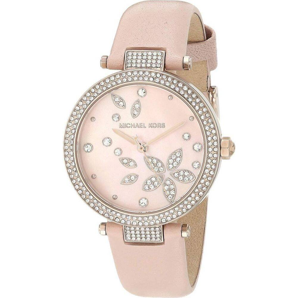マイケル コース Michael Kors レディース 腕時計 【Parker Three-Hand Leather Watch】Pink