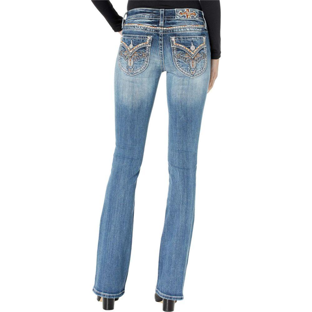 ミス ミー Miss Me レディース ジーンズ・デニム ブーツカット ボトムス・パンツ【Faux Flap with Cross Design Bootcut Jeans in Dark Blue】Dark Blue