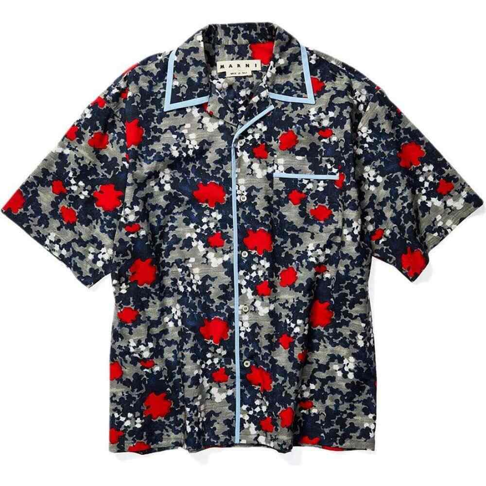マルニ MARNI メンズ シャツ トップス【Signature Vacation Shirt】Floating Buds Print